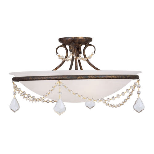 Livex Lighting Livex Lighting Chesterfield/pennington Venetian Golden Bronze Semi-Flushmount Light 6525-71