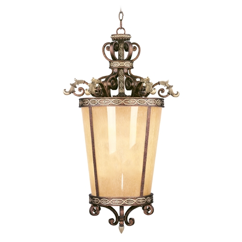 Livex Lighting Livex Lighting Seville Palacial Bronze with Gilded Accents Pendant Light with Cylindrical Shade 8549-64