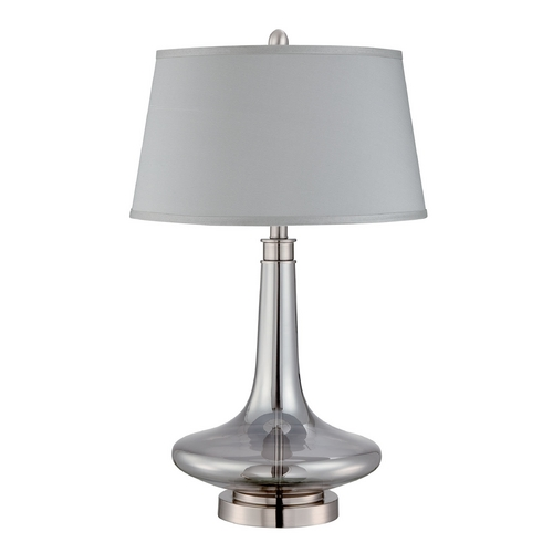 Lite Source Lighting Lite Source Lighting Kelston Polished Steel Table Lamp with Drum Shade LS-22576