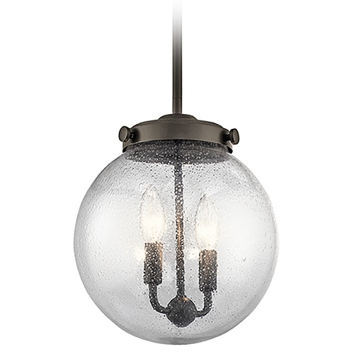 Kichler Lighting Kichler Lighting Holbrook Mini-Pendant Light with Globe Shade 42588OZ