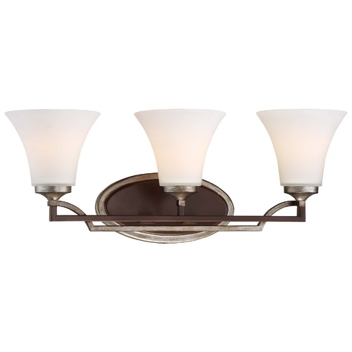 Minka Lavery Minka Astrapia Dark Rubbed Sienna with Aged Silver Bathroom Light 5343-593