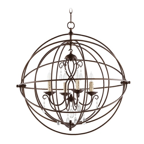 Quorum Lighting Quorum Lighting Cilia Oiled Bronze Pendant Light 6716-4-86