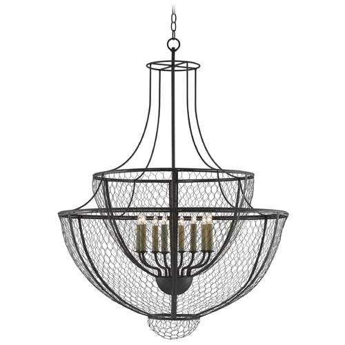 Currey and Company Lighting Currey and Company Winton Hiroshi Gray Pendant Light 9000-0037
