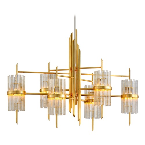 Corbett Lighting Corbett Lighting Gold Leaf with Polished Stainless Pendant Light 257-56