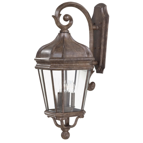 Minka Lavery Outdoor Wall Light with Clear Glass in Vintage Rust Finish 8693-61