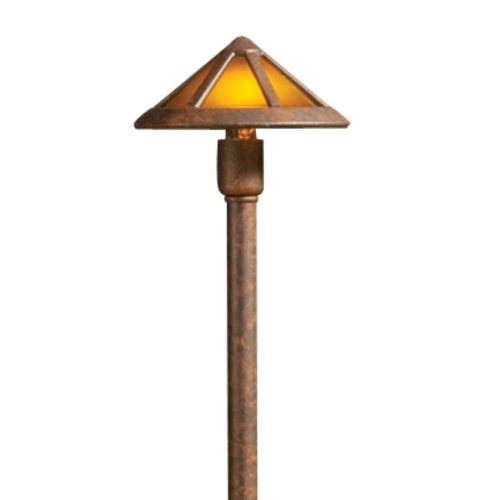 Kichler Lighting Kichler Path Light with Mica Shade in Bronze Finish 15450TZT