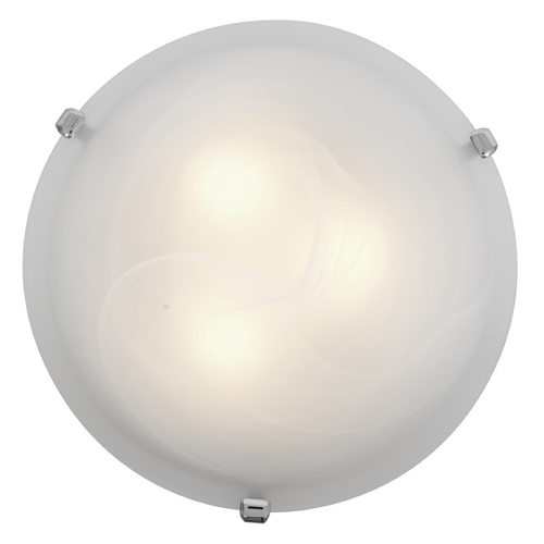 Access Lighting Modern Flushmount Light with Alabaster Glass in Chrome Finish 23020-CH/ALB