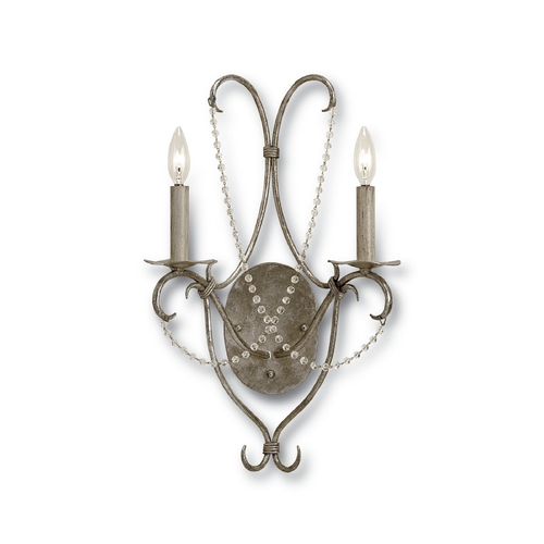 Currey and Company Lighting Sconce Wall Light in Silver Leaf Finish 5980