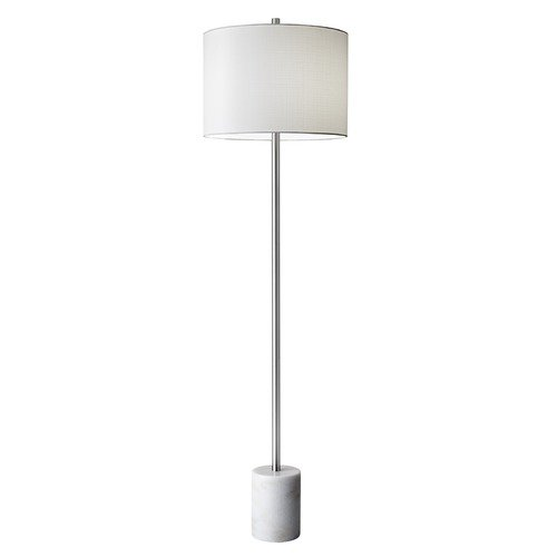 Adesso Home Lighting Adesso Home Blythe Brushed Steel Floor Lamp with Drum Shade 5281-02