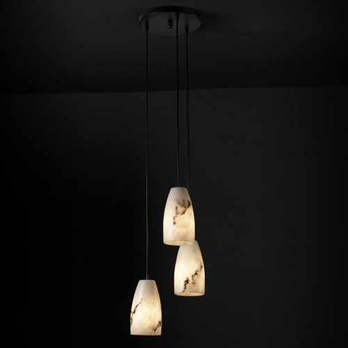 Justice Design Group Justice Design Group Lumenaria Collection Multi-Light Pendant FAL-8864-28-MBLK