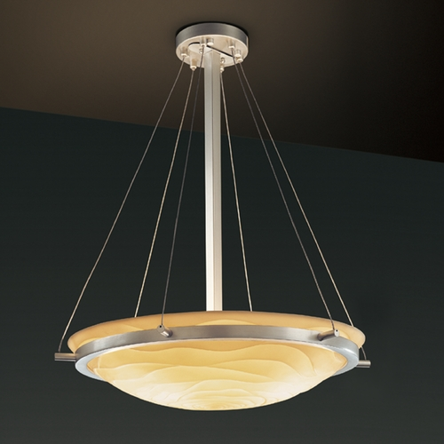 Justice Design Group Justice Design Group Porcelina Collection Pendant Light PNA-9692-35-WAVE-NCKL
