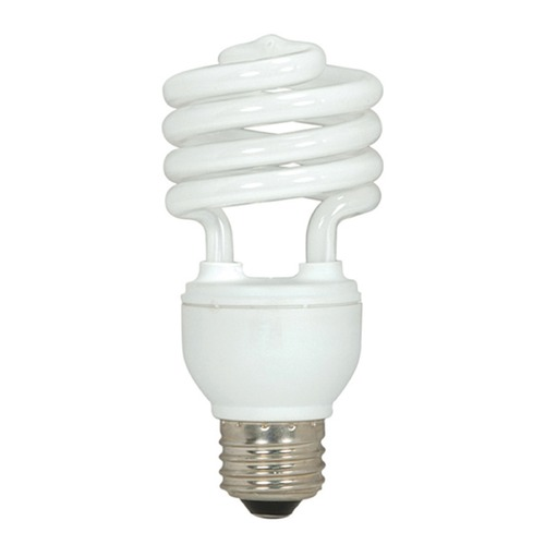 Satco Lighting Compact Fluorescent T2 Light Bulb Medium Base 2700K 120V by Satco Lighting S5519