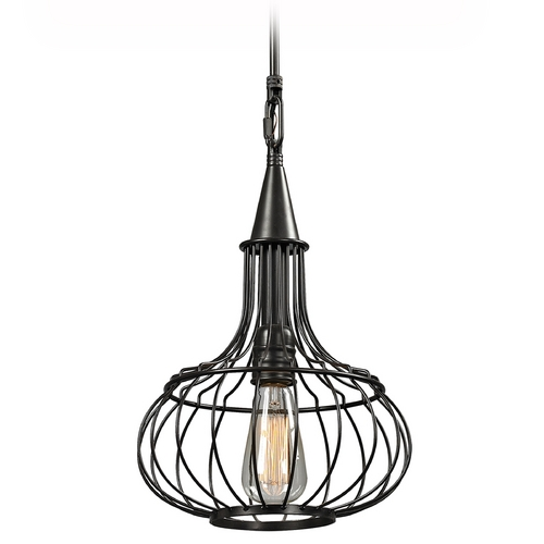 Elk Lighting Pendant Light in Oil Rubbed Bronze Finish 14192/1