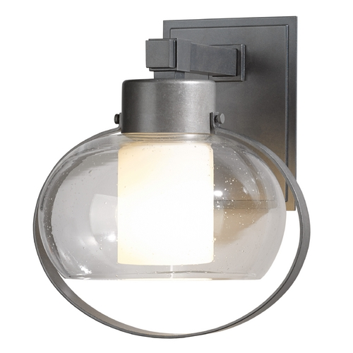 Hubbardton Forge Lighting Hubbardton Forge Lighting Port Burnished Steel Outdoor Wall Light 304303-08-I355