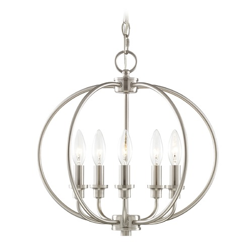 Livex Lighting Livex Lighting Milania Brushed Nickel Pendant Light 4665-91