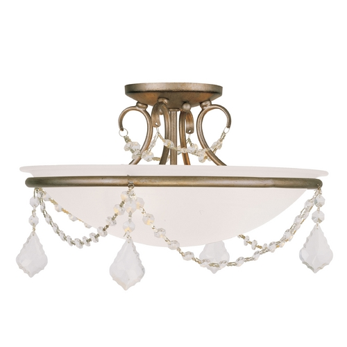 Livex Lighting Livex Lighting Chesterfield/pennington Antique Silver Leaf Semi-Flushmount Light 6524-73