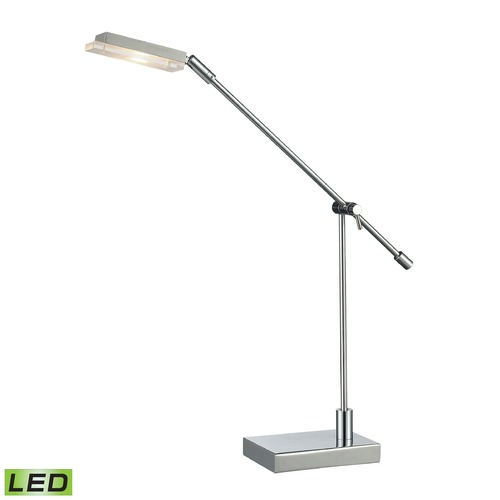 Dimond Lighting Dimond Lighting Chrome LED Table Lamp with Rectangle Shade D2708
