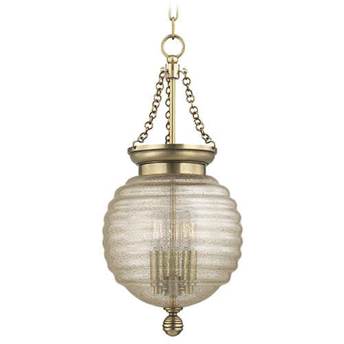 Hudson Valley Lighting Coolidge 3 Light Mini-Pendant Light - Aged Brass 3210-AGB