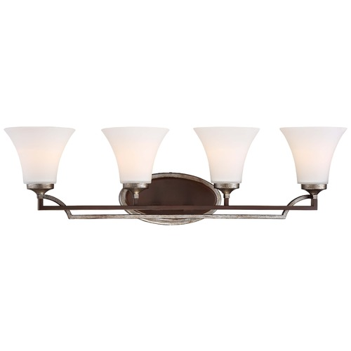Minka Lighting Minka Astrapia Dark Rubbed Sienna with Aged Silver Bathroom Light 5344-593