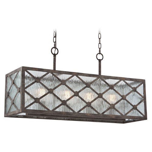 Elk Lighting Elk Lighting Radley Malted Rust Island Light 32124/4