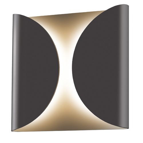 Sonneman Lighting Sonneman Folds Textured Bronze LED Outdoor Wall Light 2710.72-WL