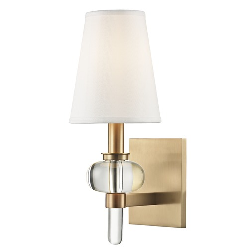 Hudson Valley Lighting Hudson Valley Lighting Luna Aged Brass Sconce 1900-AGB