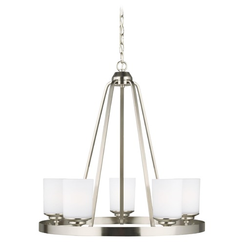 Sea Gull Lighting Sea Gull Lighting Kemal Brushed Nickel Chandelier 3130705-962