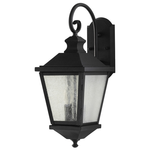 Feiss Lighting Outdoor Wall Light with Clear Glass in Black Finish OL5701BK