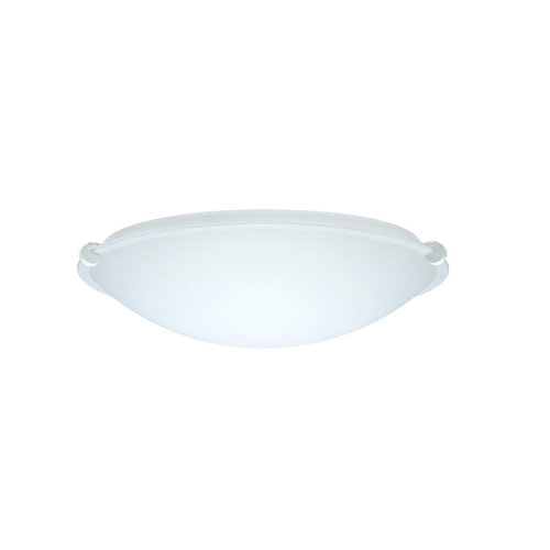 Besa Lighting Flushmount Light with White Glass in White Finish 968207-WH