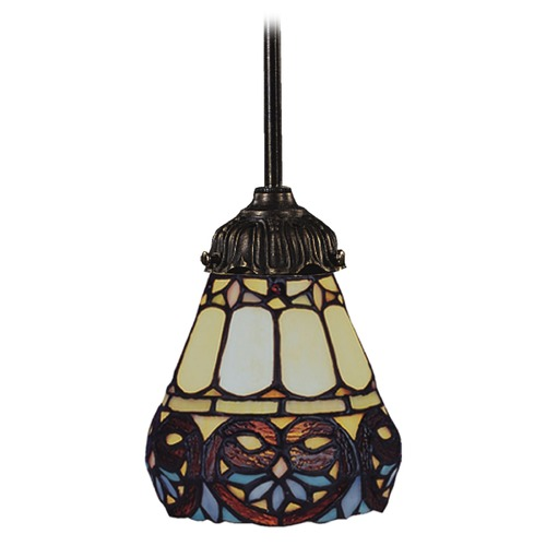 Elk Lighting Mini-Pendant Light with Multi-Color Glass 078-TB-21