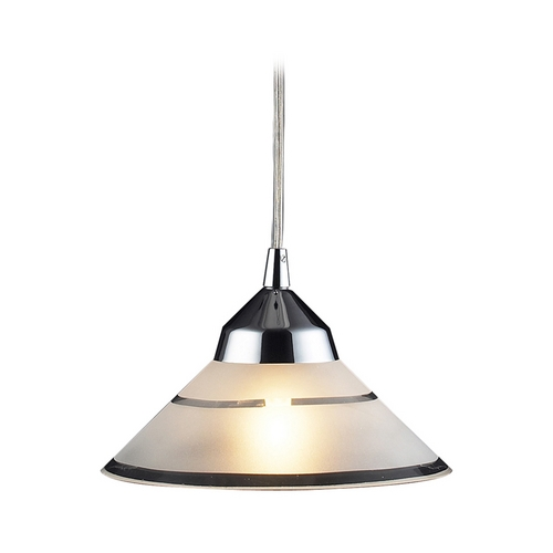 Elk Lighting Modern Mini-Pendant Light with Art Glass 1477/1