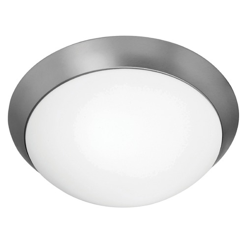 Access Lighting Modern Flushmount Light with White Glass in Brushed Steel Finish 20626GU-BS/OPL