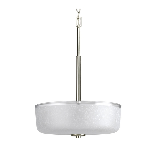 Progress Lighting Progress Hanging Bowl Pendant Light with White Glass P3846-09