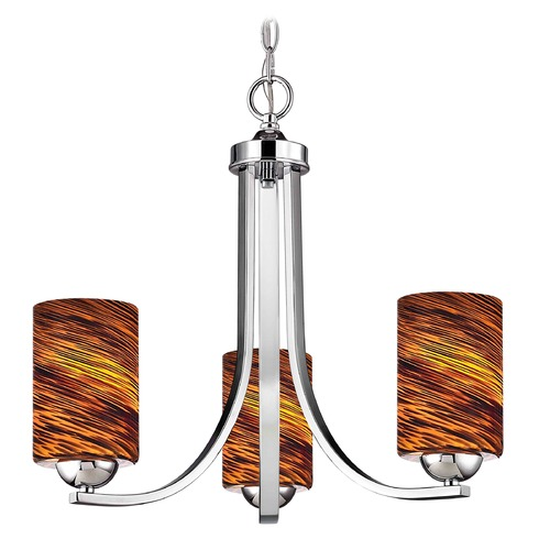 Design Classics Lighting Design Classics Dalton Fuse Chrome Mini-Chandelier 5843-26 GL1023C