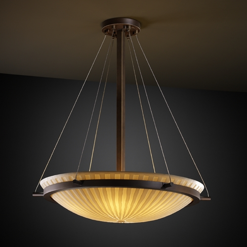 Justice Design Group Justice Design Group Porcelina Collection Pendant Light PNA-9692-35-WFAL-DBRZ