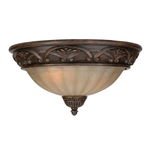 Jeremiah Lighting Jeremiah Barcelona Aged Bronze Flushmount Light X5716-AG