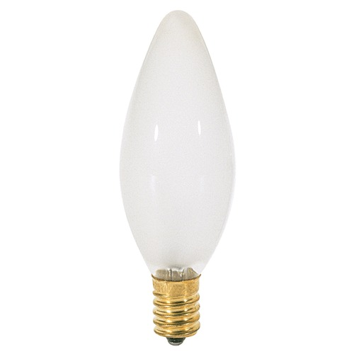 Satco Lighting Incandescent Flame Light Bulb European Base 120V by Satco S3382