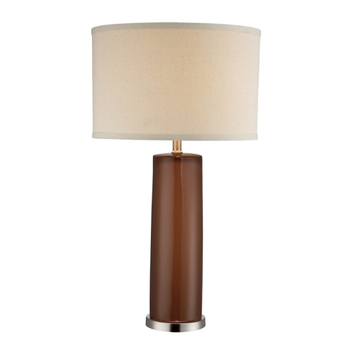 Lite Source Lighting Lite Source Lighting Cigar Coffee Table Lamp with Drum Shade LS-22234COFFEE