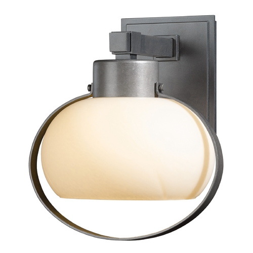 Hubbardton Forge Lighting Hubbardton Forge Lighting Port Burnished Steel Outdoor Wall Light 304303-08-ZX355