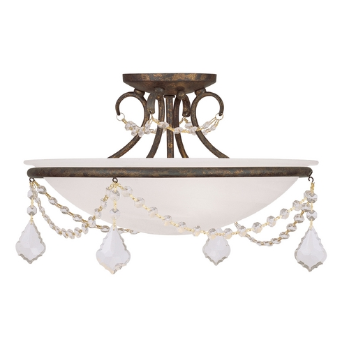 Livex Lighting Livex Lighting Chesterfield/pennington Venetian Golden Bronze Semi-Flushmount Light 6524-71