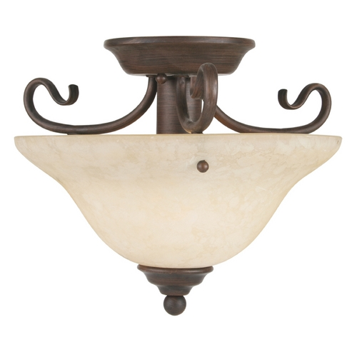 Livex Lighting Livex Lighting Coronado Imperial Bronze Semi-Flushmount Light 6109-58