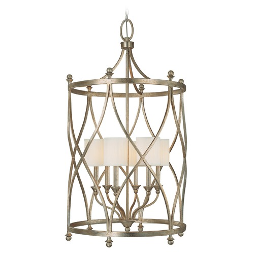 Capital Lighting Capital Lighting Fifth Avenue Winter Gold Pendant Light with Cylindrical Shade 9083WG-484