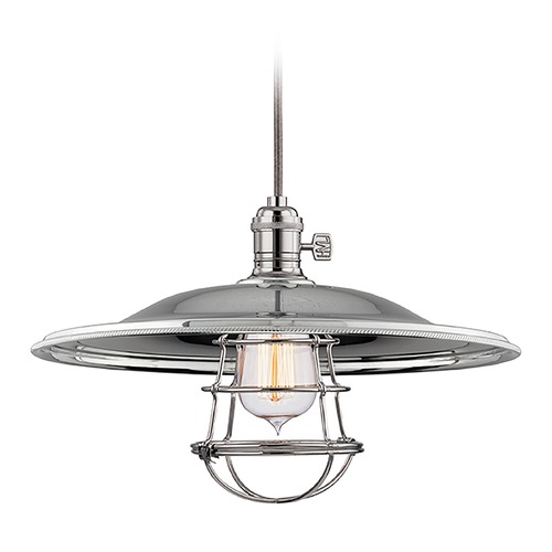 Hudson Valley Lighting Hudson Valley Lighting Heirloom Polished Nickel Pendant Light with Bowl / Dome Shade 8001-PN-MM2-WG