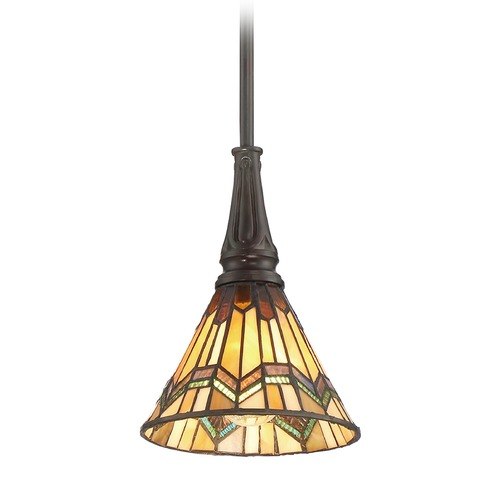 Quoizel Lighting Quoizel Lighting Alcott Valiant Bronze Mini-Pendant Light with Conical Shade TFAT1507VA