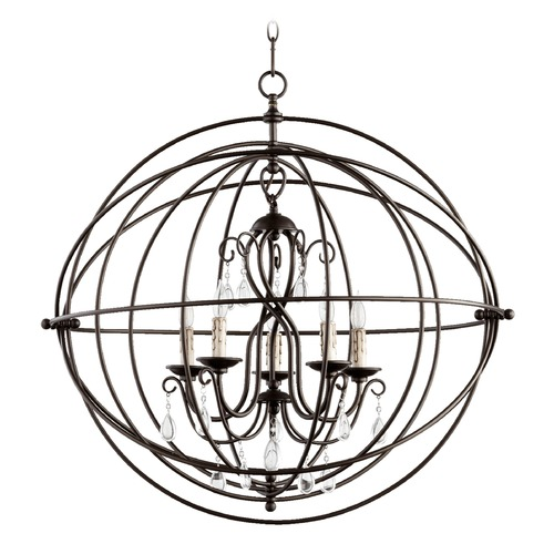 Quorum Lighting Quorum Lighting Cilia Oiled Bronze Pendant Light 6716-8-86
