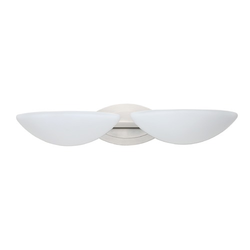 Besa Lighting Besa Lighting Jamie Satin Nickel LED Bathroom Light 2WM-231807-LED-SN