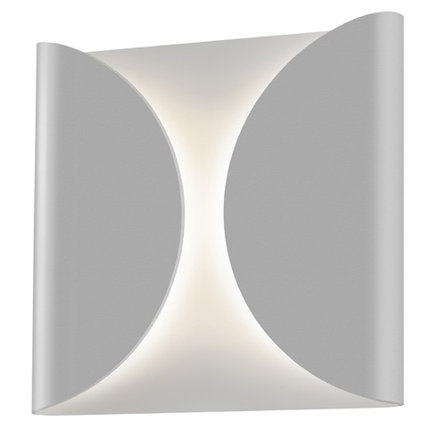 Sonneman Lighting Sonneman Folds Textured Gray LED Outdoor Wall Light 2710.74-WL