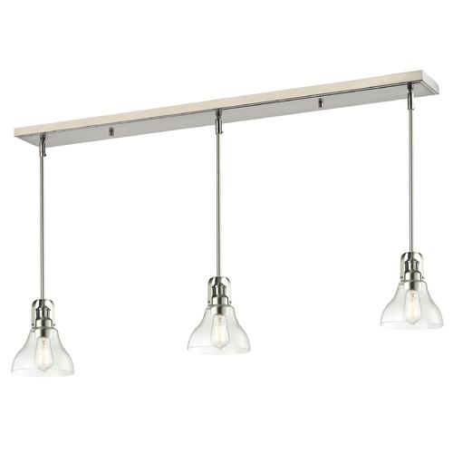 Z-Lite Z-Lite Forge Brushed Nickel Multi-Light Pendant with Bowl / Dome Shade 320-8MP-3BN