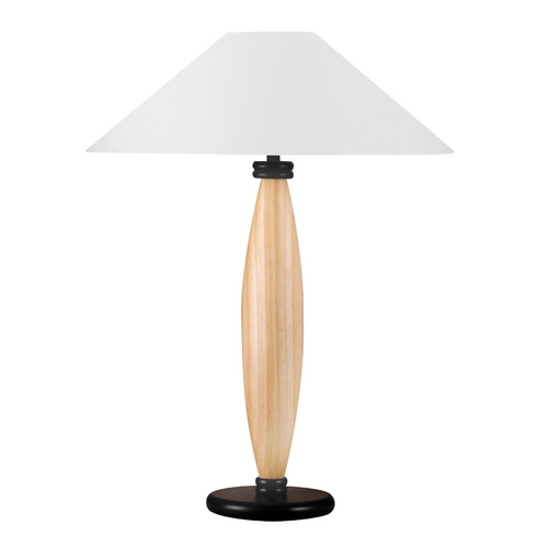 Lite Source Lighting Lite Source Lighting Basics Table Lamp with Coolie Shade LS-3321LNAT/WHT