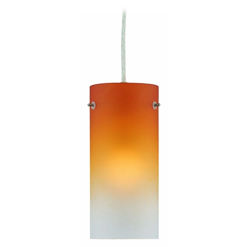 Lite Source Lighting Lite Source Lighting Sunset Mini-Pendant Light with Cylindrical Shade LS-17981PS/AMB